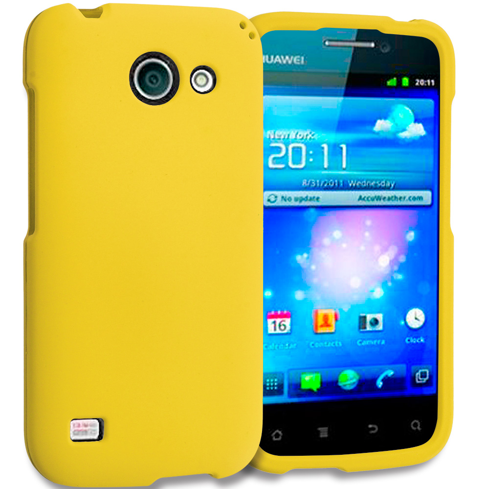 Huawei Tribute Fusion 3 Y536A1 Yellow Hard Rubberized Case Cover