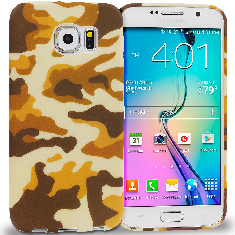 Samsung Galaxy S6 Camo TPU Design Soft Rubber Case Cover