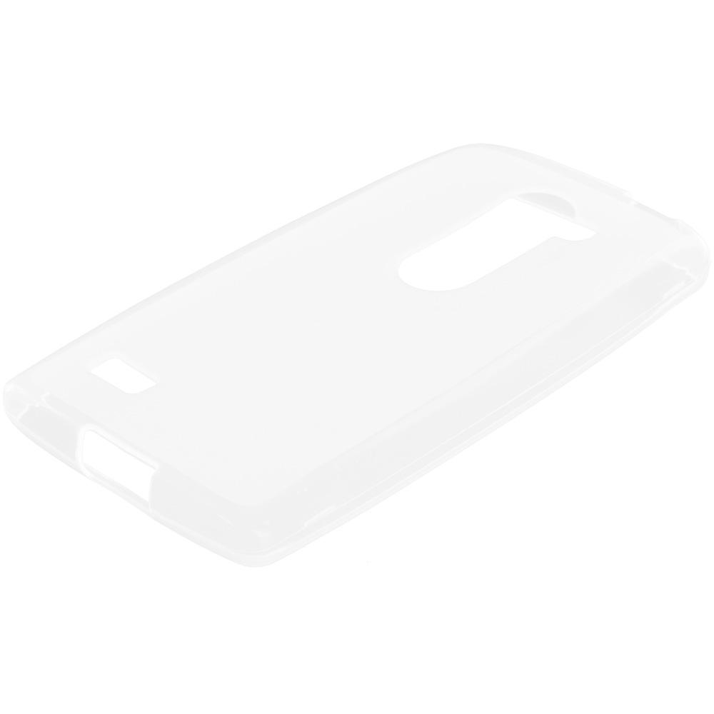 LG Tribute 2 Leon Power Destiny Clear TPU Rubber Skin Case Cover