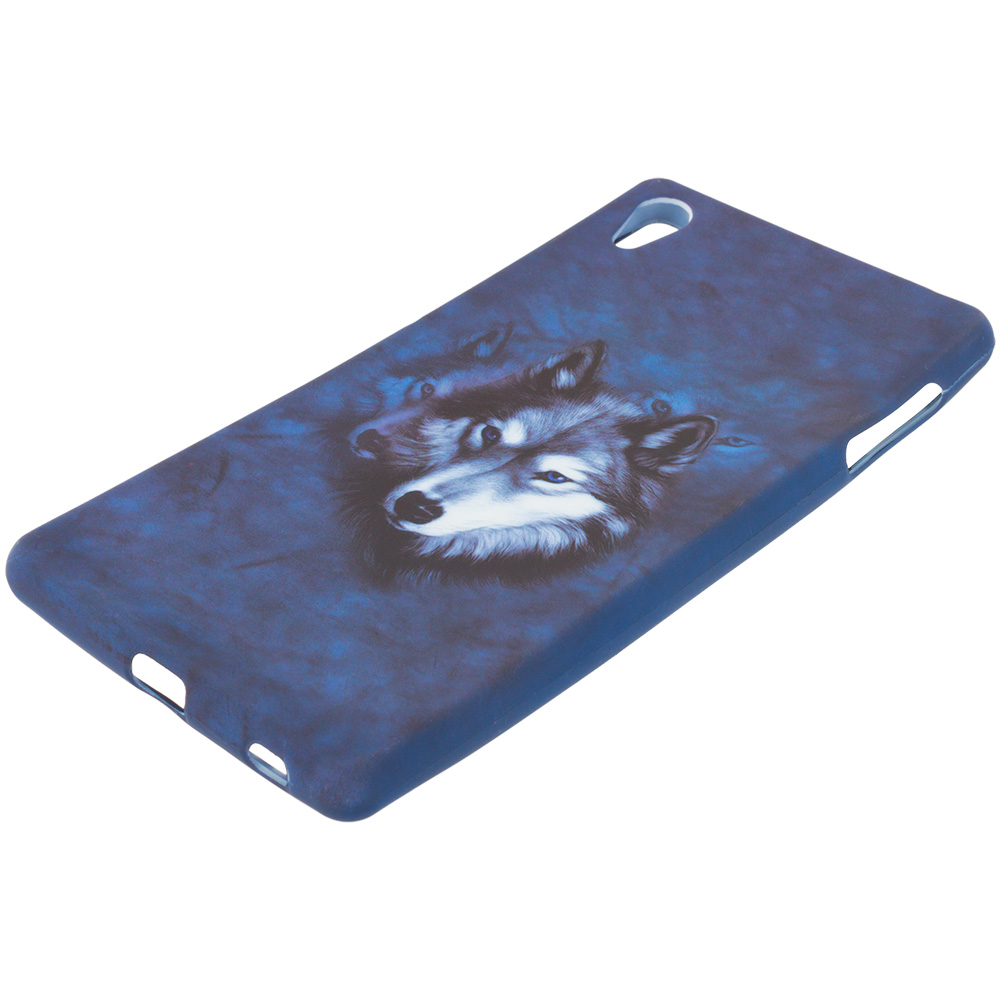 Sony Xperia Z4v Wolf TPU Design Soft Rubber Case Cover