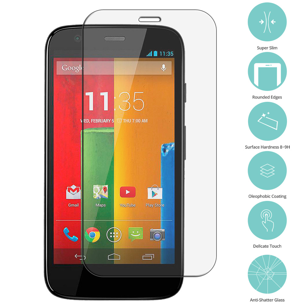 Motorola Moto G Clear Tempered Glass Film Screen Protector Clear