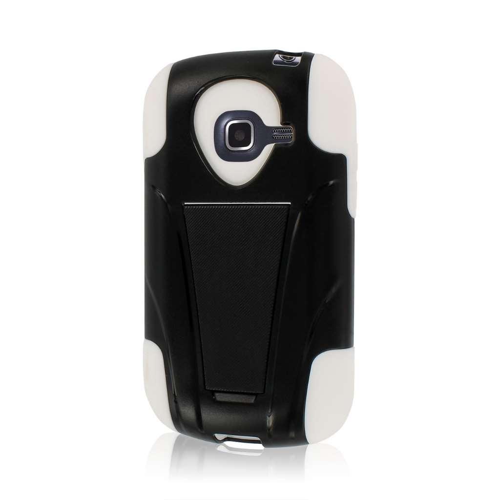 Samsung Galaxy Centura S738C - White MPERO IMPACT X - Kickstand Case Cover
