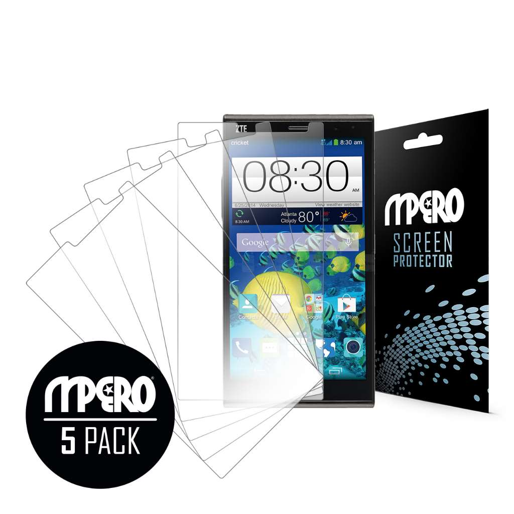 ZTE Grand X Max MPERO 5 Pack of Ultra Clear Screen Protectors