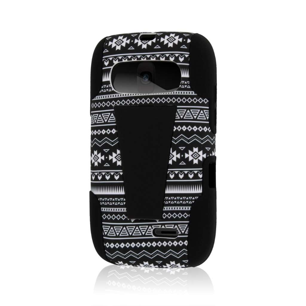 ZTE Z432 - Black Aztec MPERO IMPACT X - Kickstand Case Cover