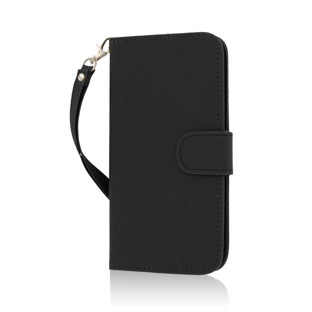 Apple iPhone 6 6S Plus - Black Combo Pack : MPERO FLEX FLIP Wallet Case Cover : Color Black