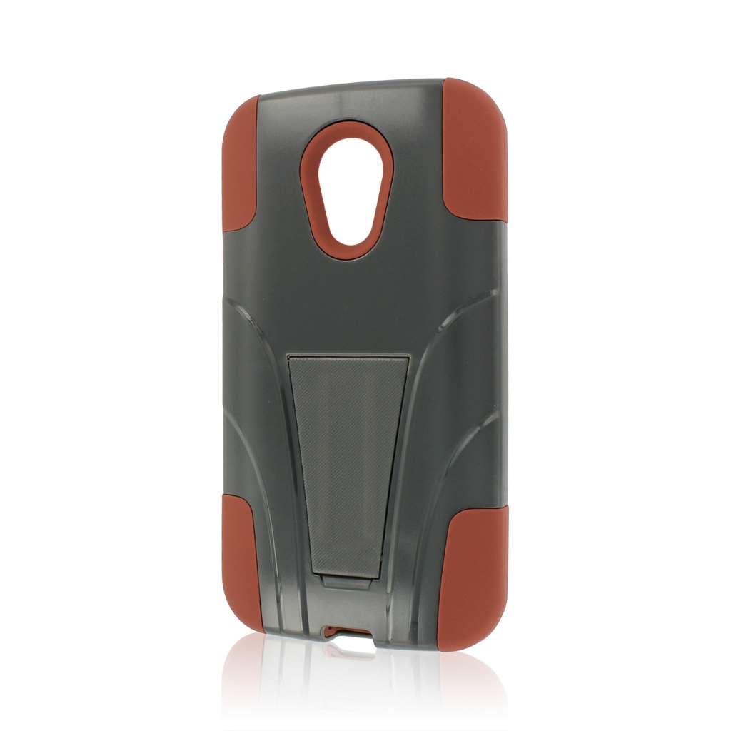 Motorola Moto G 2nd Gen 2014 -Sandstone / Gray MPERO IMPACT X - Stand Case
