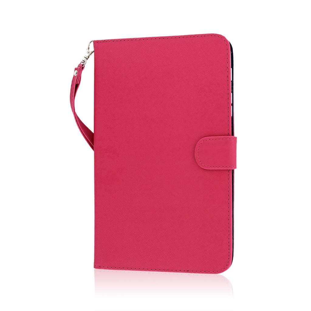 Samsung Galaxy Tab 4 8.0 - Hot Pink MPERO FLEX FLIP Wallet Case Cover