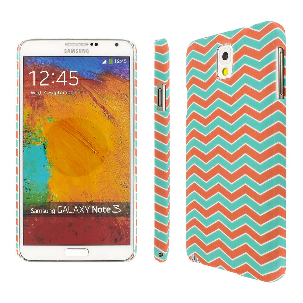 Samsung Galaxy Note 3 - Mint Chevron MPERO SNAPZ - Rubberized Case Cover