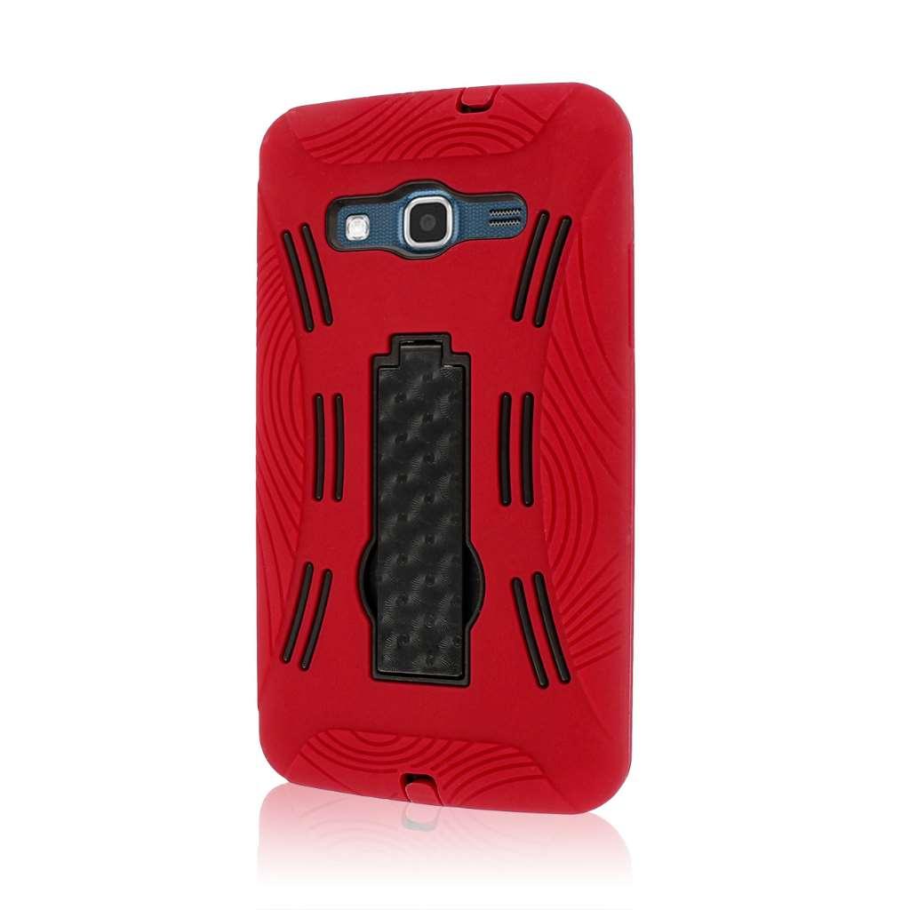Samsung ATIV S Neo I800 I8675 - Red MPERO IMPACT XL - Kickstand Case Cover