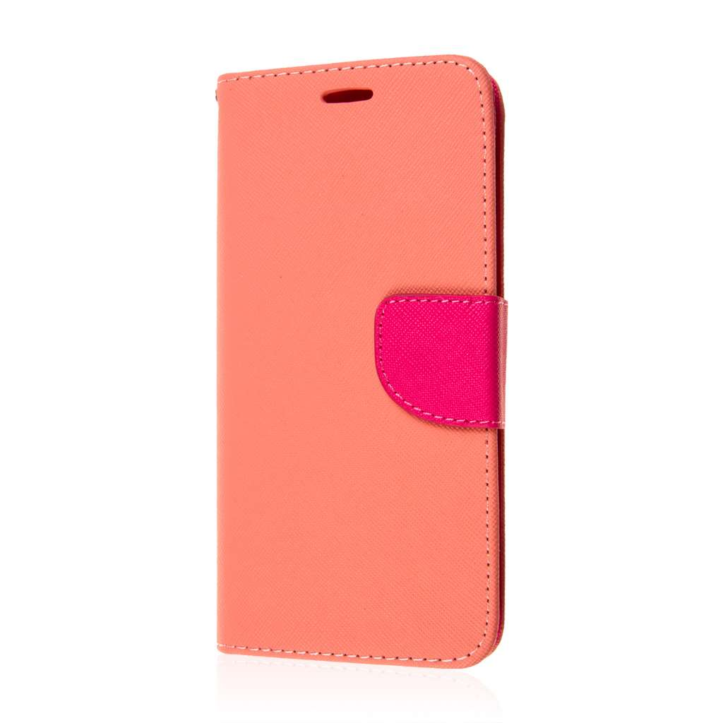 Samsung Galaxy S6 Edge Plus - Hot Pink MPERO FLEX FLIP 2 Wallet Stand Case