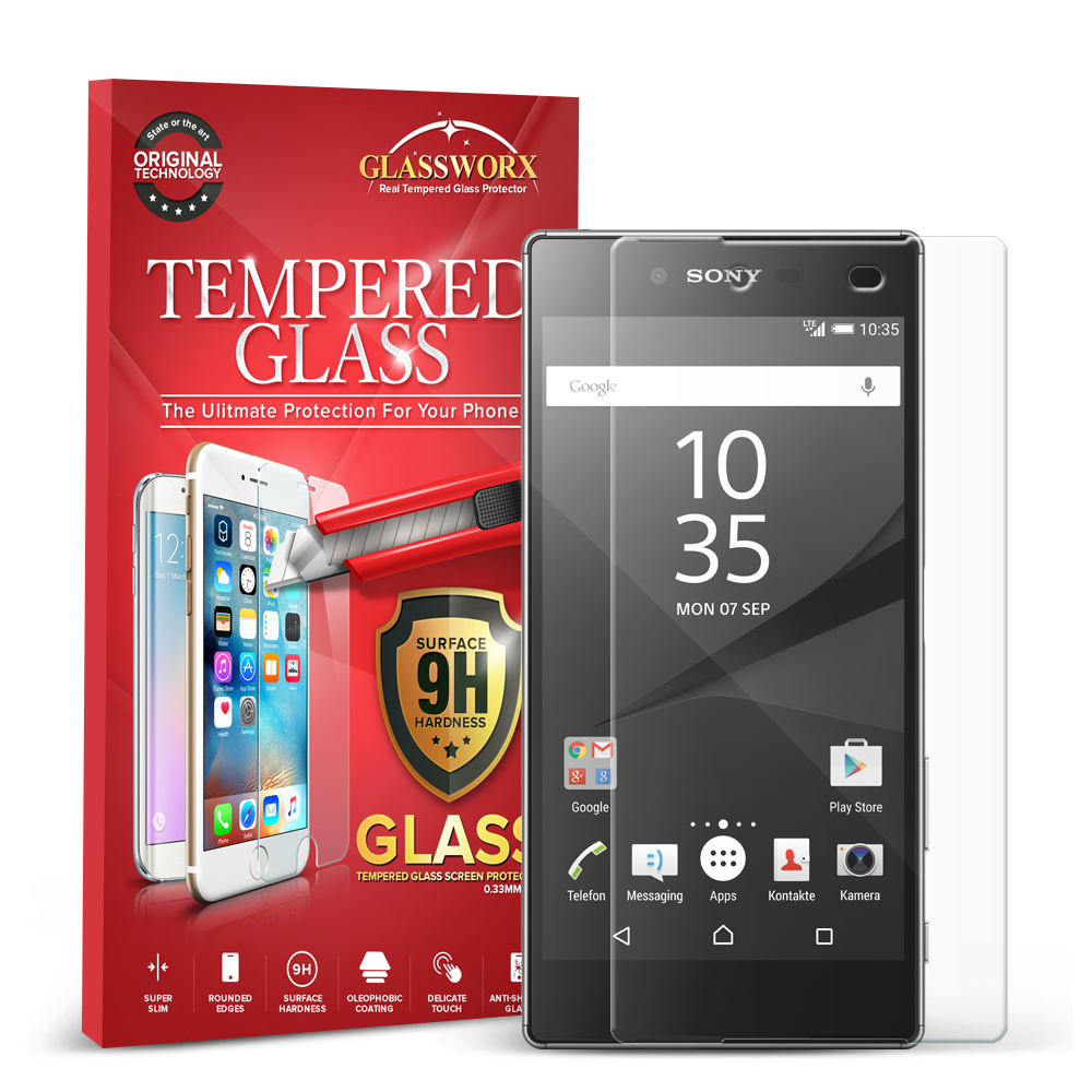 Sony Xperia Z5 Premium Clear GlassWorX HD Tempered Glass Screen Protector