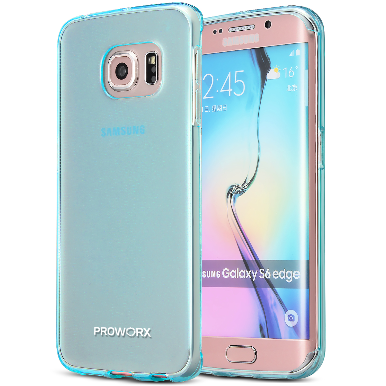 Samsung Galaxy S6 Edge Plus + Mint Green ProWorx Ultra Slim Thin Scratch Resistant TPU Silicone Case Cover