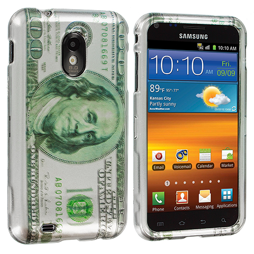 Samsung Epic Touch 4G D710 Sprint Galaxy S2 Hundred Dollars Design Crystal Hard Case Cover