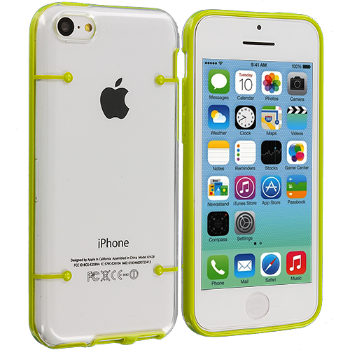Apple iPhone 5C Yellow Crystal Robot Hard Case Cover