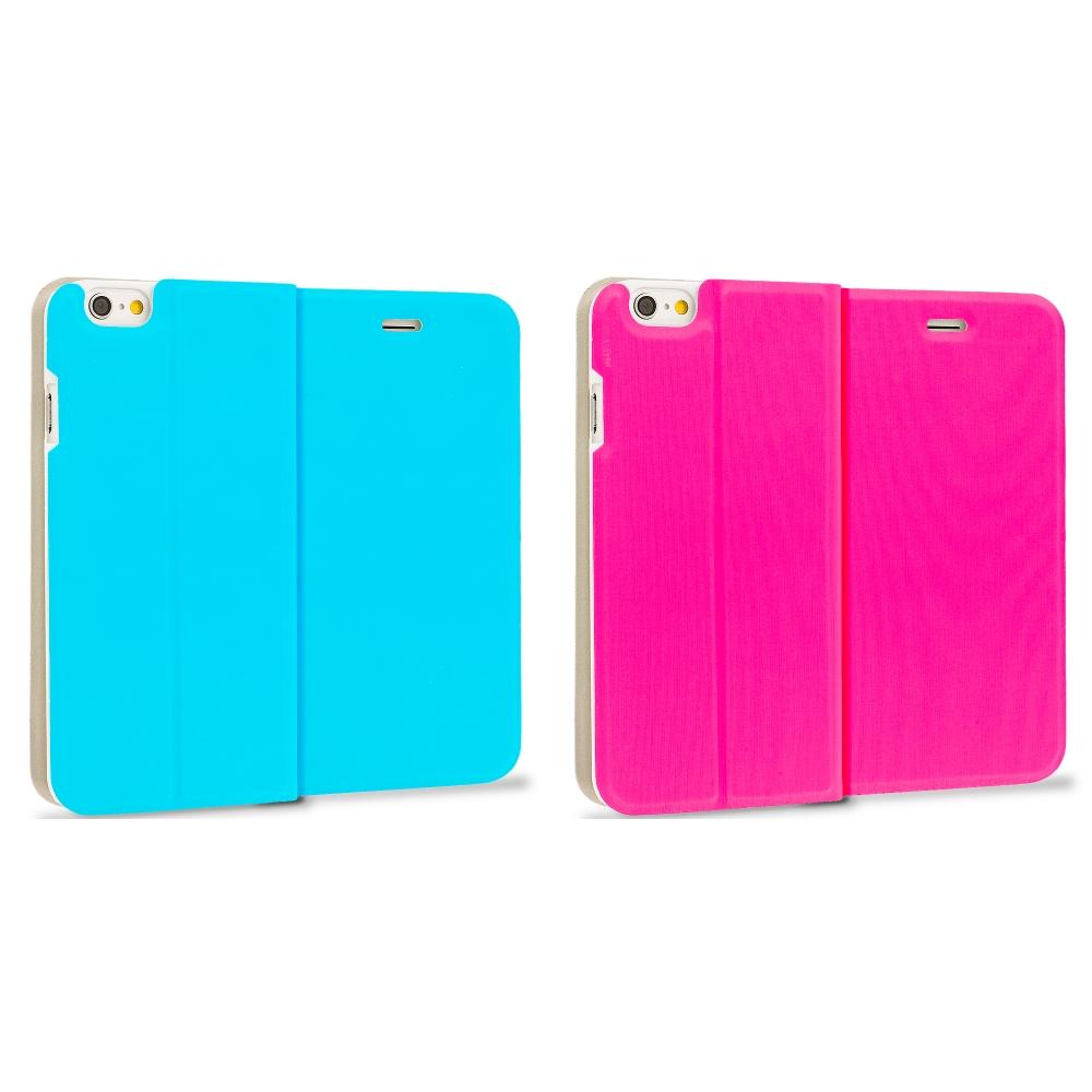 Apple iPhone 6 6S (4.7) 2 in 1 Combo Bundle Pack - Slim Flip Wallet Case Cover