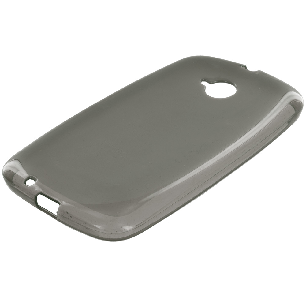 Motorola Moto E LTE 2nd Generation Smoke TPU Rubber Skin Case Cover