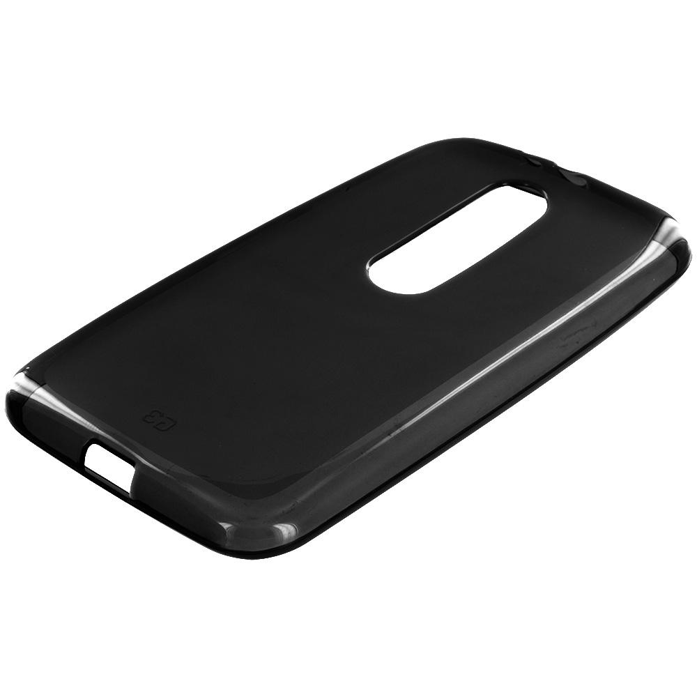 Motorola Moto G 3rd Gen 2015 Black TPU Rubber Skin Case Cover