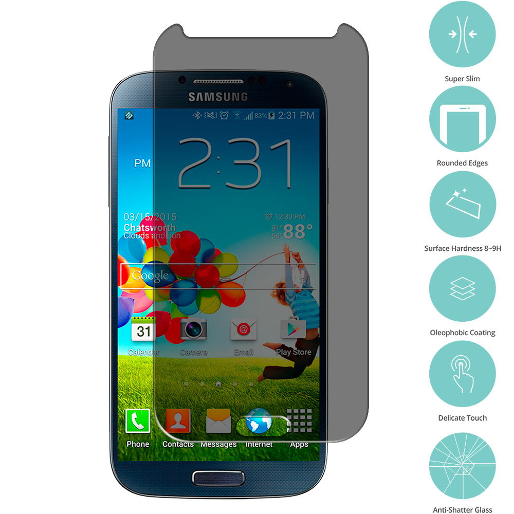 Samsung Galaxy S4 Privacy Tempered Glass Film Screen Protector