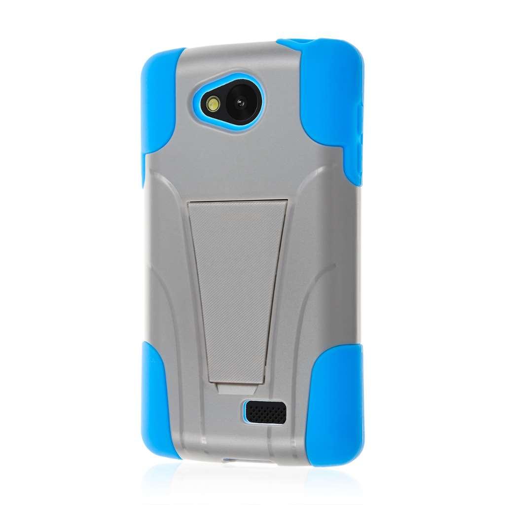 LG F60 - Blue / Gray MPERO IMPACT X - Kickstand Case Cover