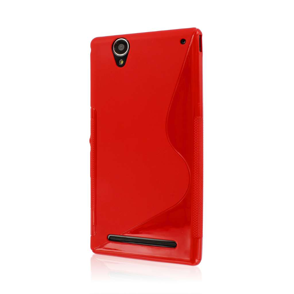 Sony Xperia T2 Ultra - Red MPERO FLEX S - Protective Case Cover