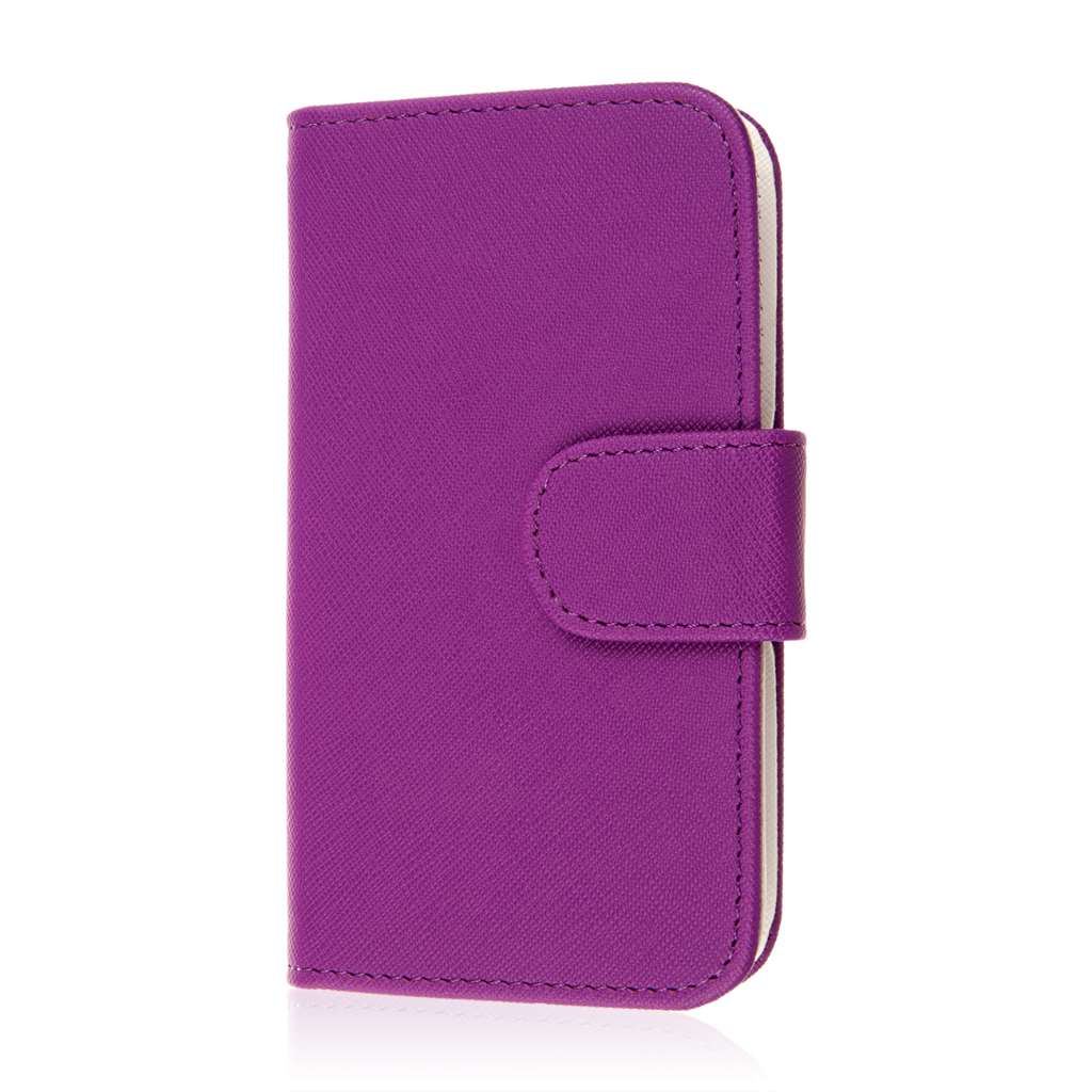 Alcatel OneTouch Evolve 2 - Purple MPERO FLEX FLIP Wallet Case Cover