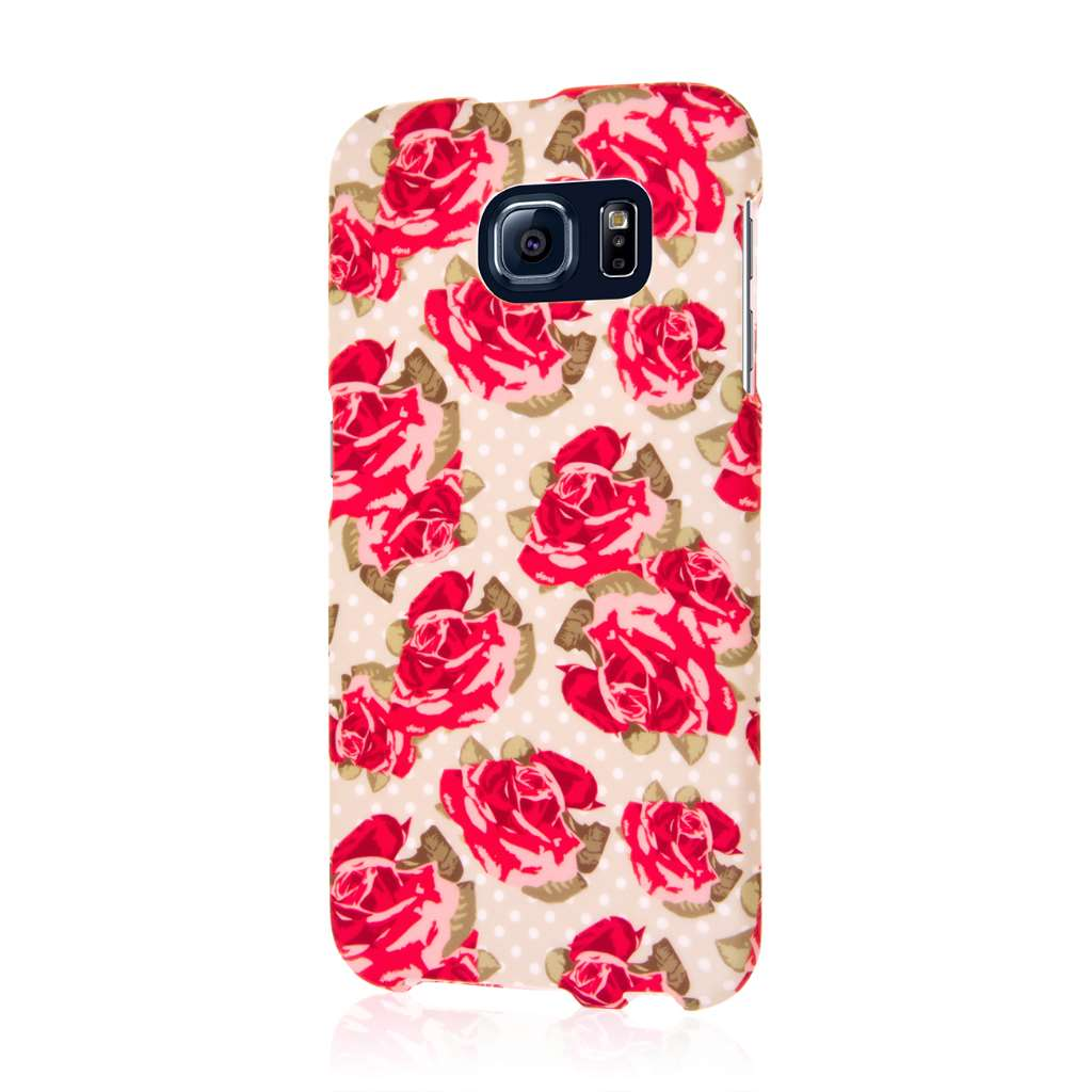 Samsung Galaxy S6 - Vintage Red Roses MPERO SNAPZ - Case Cover