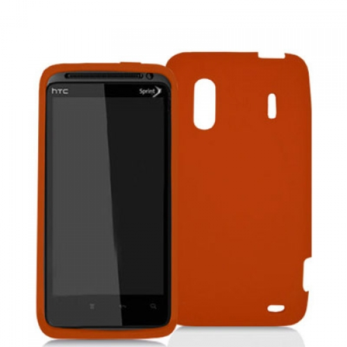 HTC EVO Design 4G Orange Silicone Soft Skin Case Cover