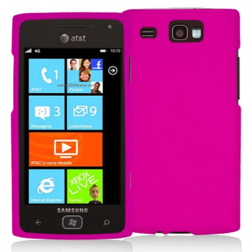 Samsung Focus Flash i677 Hot Pink Hard Rubberized Case Cover