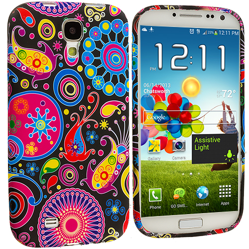 Samsung Galaxy S4 Rainbow Fish TPU Design Soft Case Cover