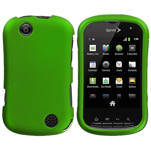 Sony Kyocera Milano Neon Green Hard Rubberized Case Cover