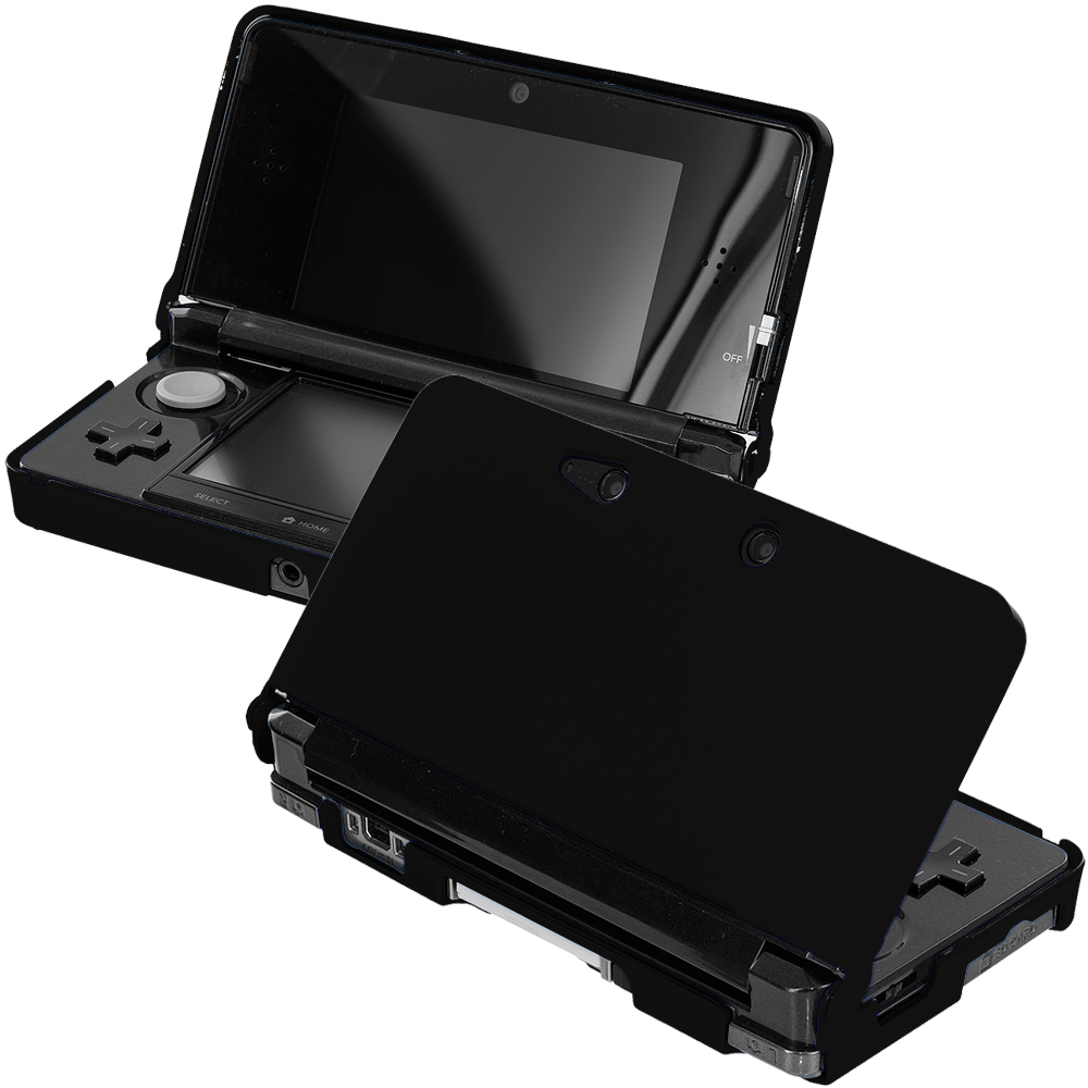 Nintendo 3DS Black Hard Rubberized Case Cover
