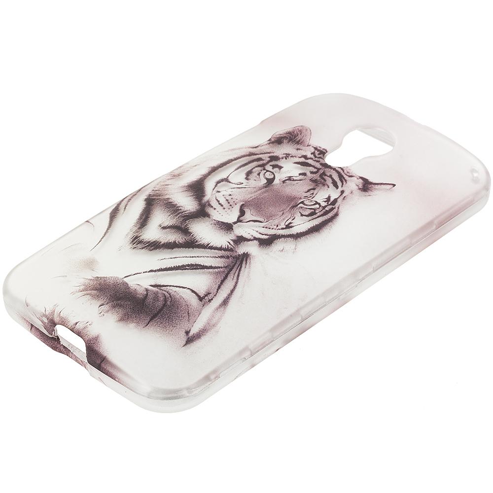 Motorola Moto G 2nd Gen 2014 Tiger 2D Hard Rubberized Design Case Cover