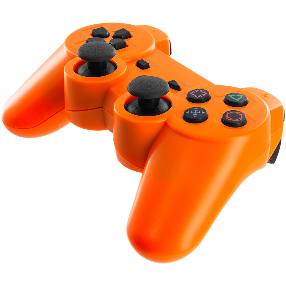 ps3 bluetooth wireless controller orange. Black Bedroom Furniture Sets. Home Design Ideas
