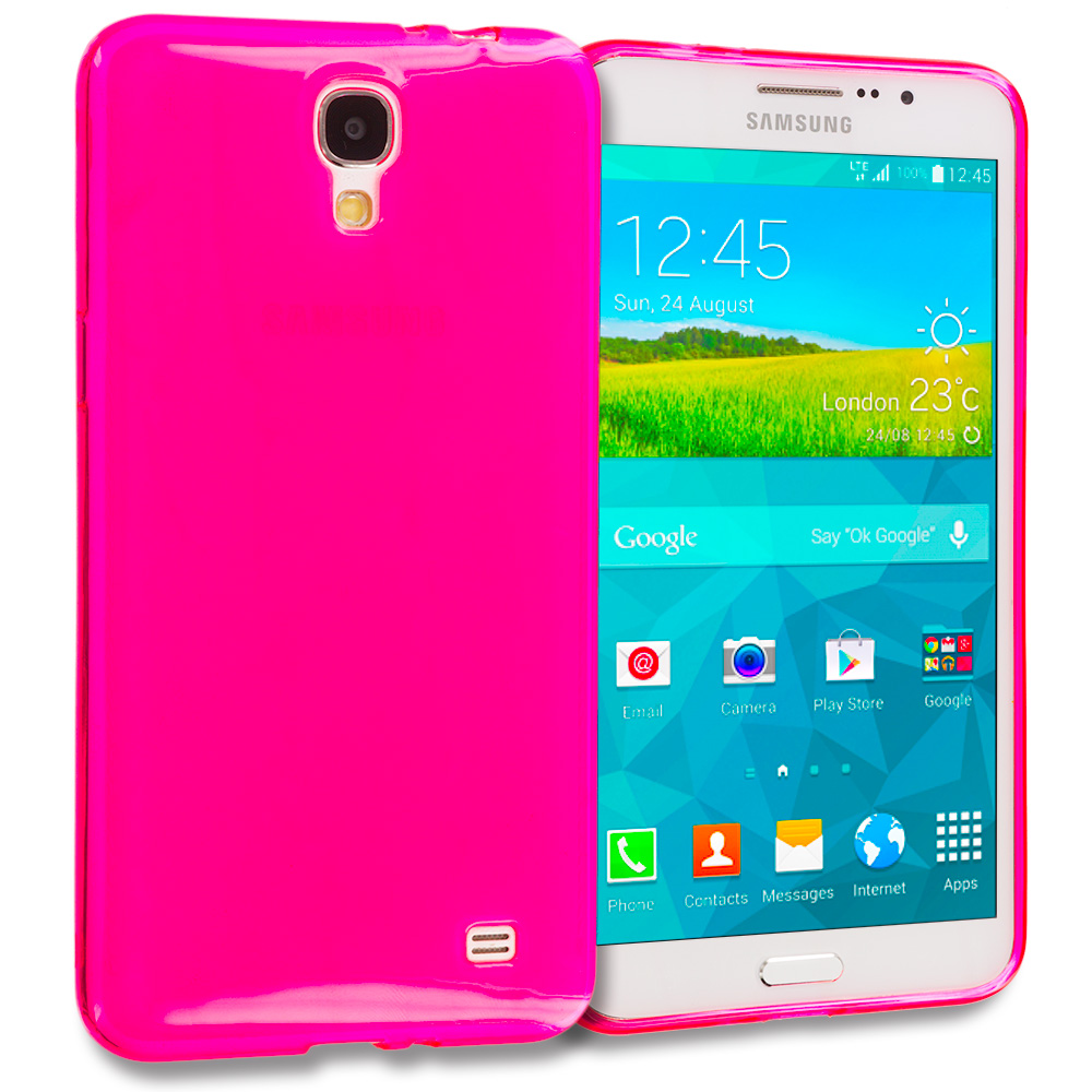 Samsung Galaxy Mega 2 Hot Pink TPU Rubber Skin Case Cover