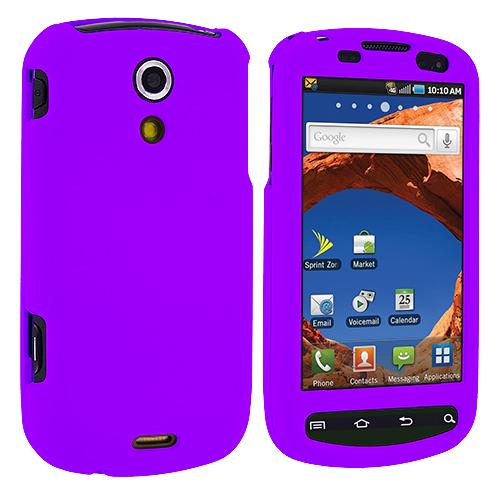 Samsung Epic 4G Purple Hard Rubberized Case Cover