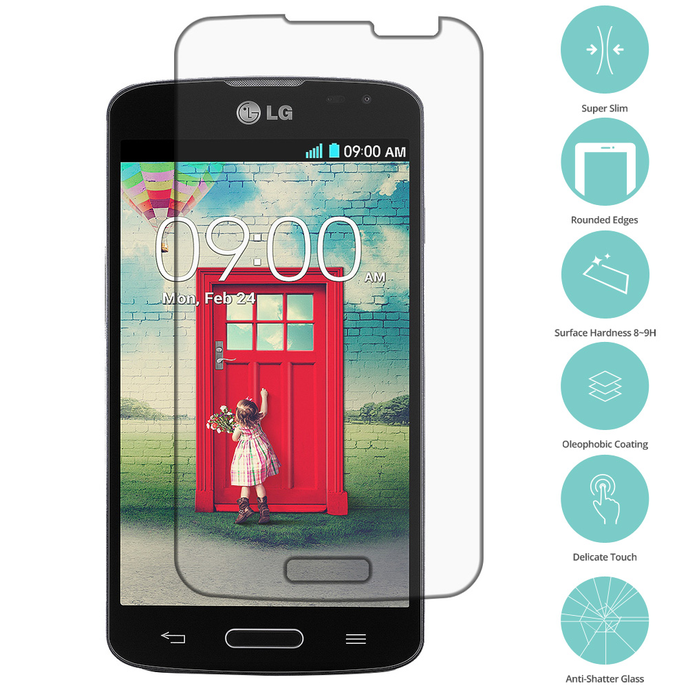 LG Optimus L70 Clear Tempered Glass Film Screen Protector Clear