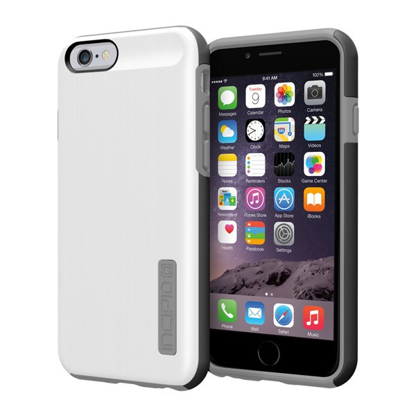 iPhone 6/6S - White/Gray Incipio DualPro Shine Case Cover