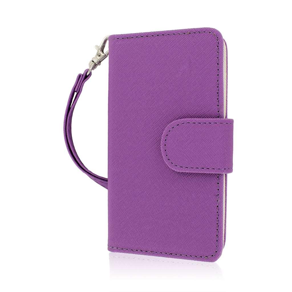 Huawei Valiant - Purple MPERO FLEX FLIP Wallet Case Cover