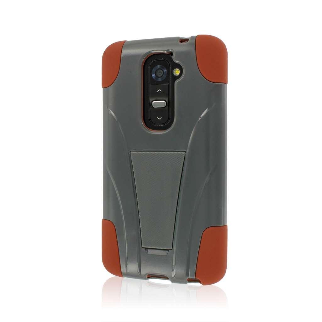 LG G2 - Sandstone / Gray MPERO IMPACT X - Kickstand Case Cover