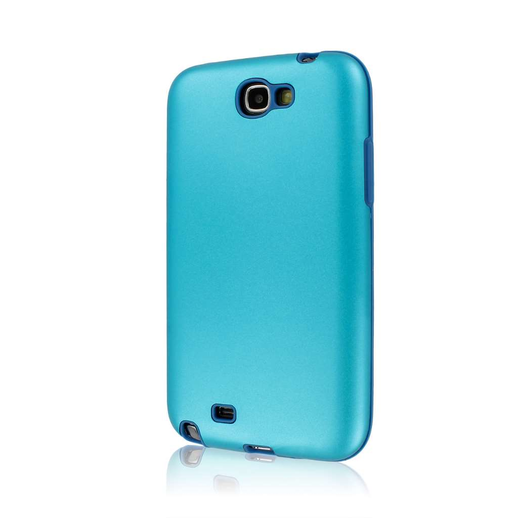 Samsung Galaxy Note 2 N7100 - Light Blue MPERO FUSION AL - Protective Case