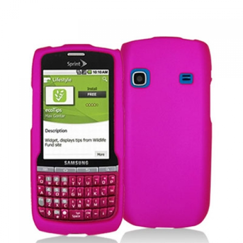 Samsung Replenish M580 Hot Pink Hard Rubberized Case Cover