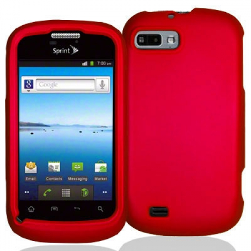 ZTE Fury N850 Red Hard Rubberized Case Cover