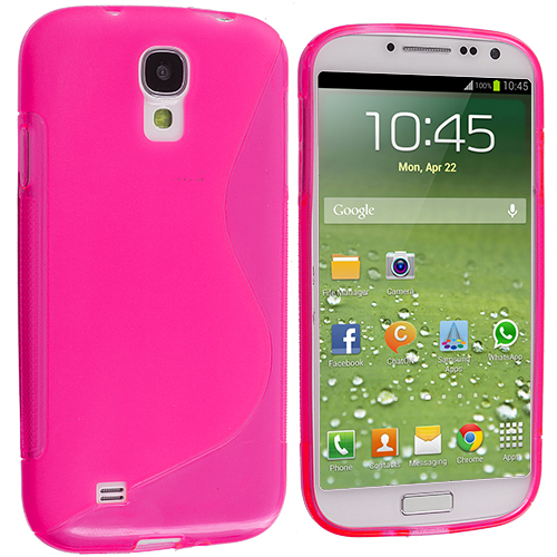 Samsung Galaxy S4 Hot Pink S-Line TPU Rubber Skin Case Cover