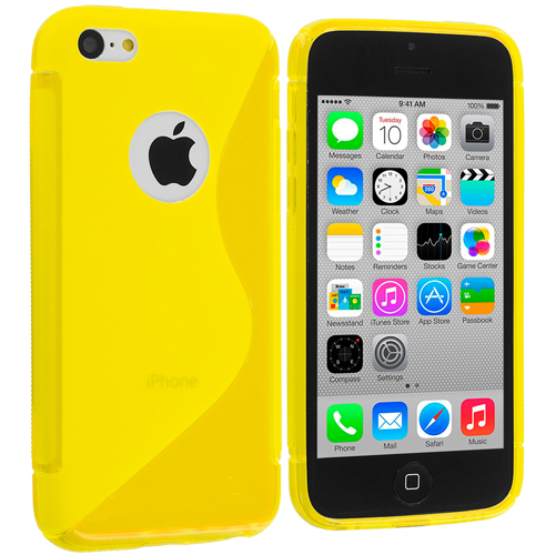 Apple iPhone 5C Yellow S-Line TPU Rubber Skin Case Cover