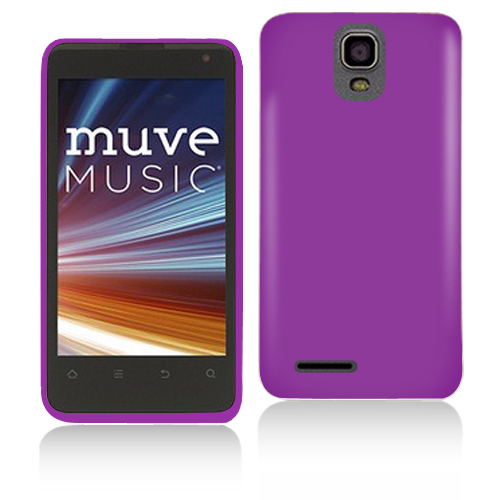 ZTE Engage LT N8000 Purple Hard Rubberized Case Cover
