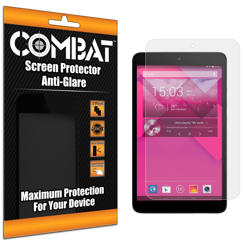 Alcatel One Touch POP 8 Combat 3 Pack Anti-Glare Matte Screen Protector