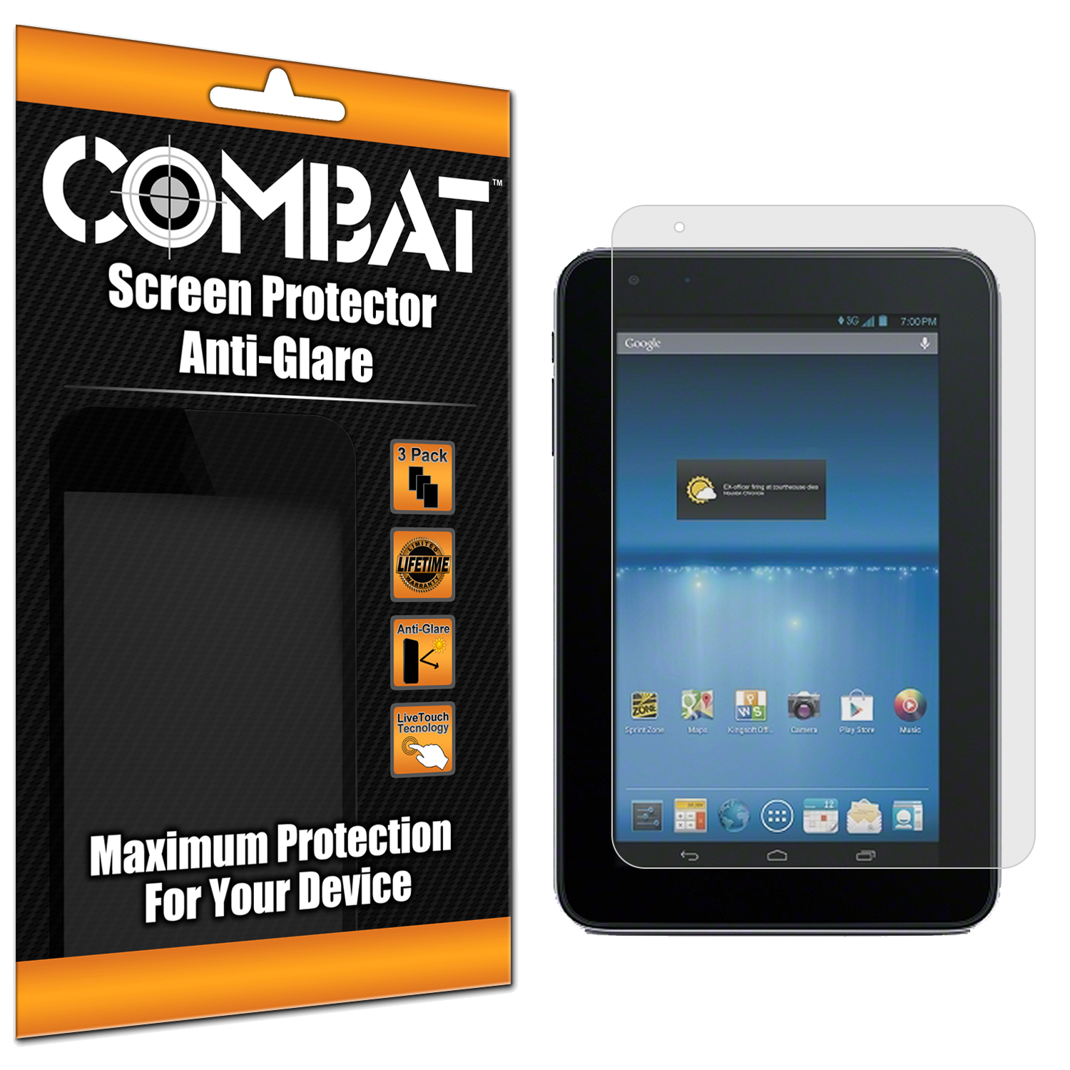 ZTE Optik 2 Combat 3 Pack Anti-Glare Matte Screen Protector