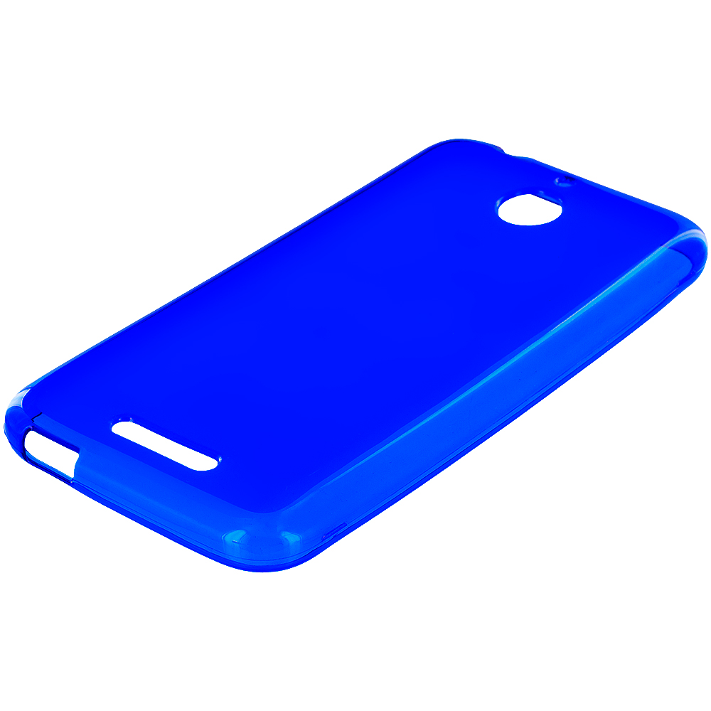 HTC Desire 510 Blue TPU Rubber Skin Case Cover