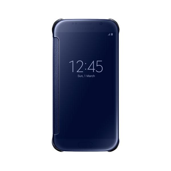 Galaxy S6 - Black Samsung Flip Case Clear