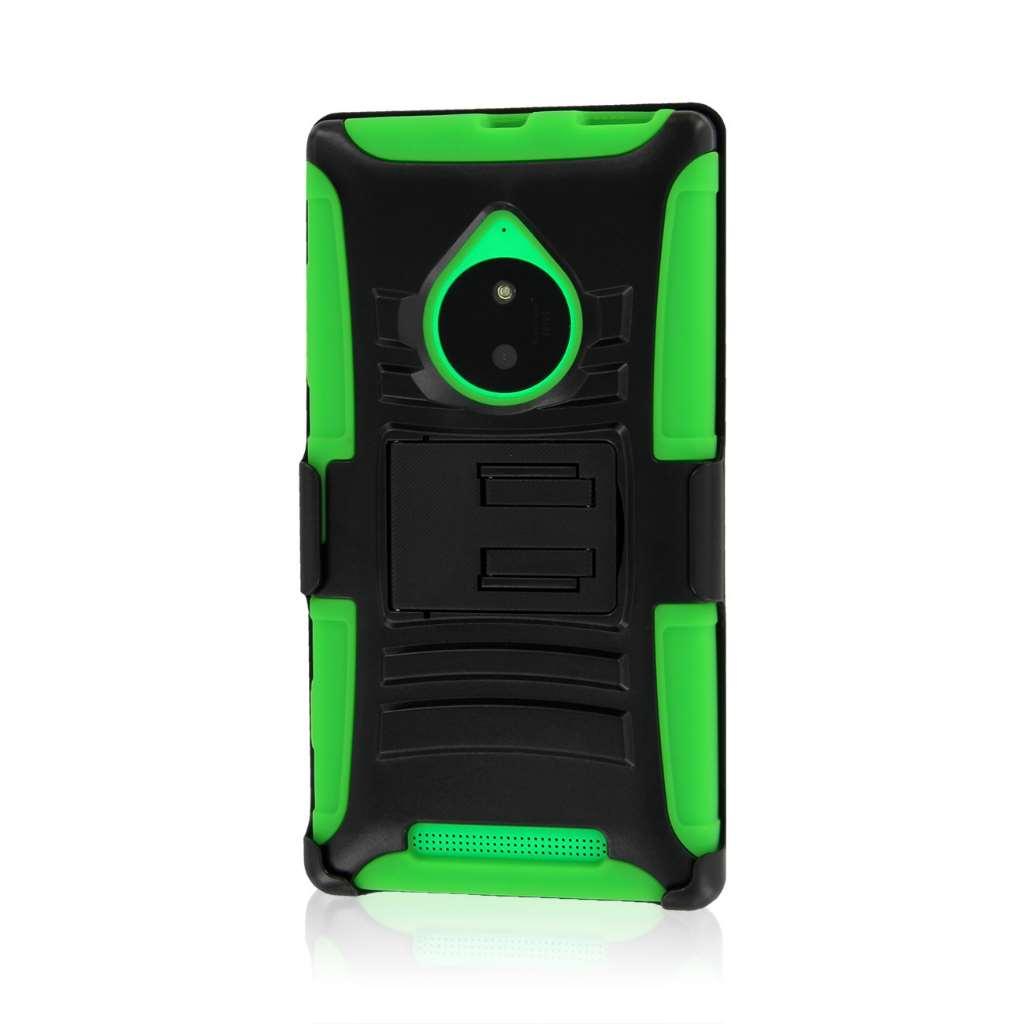 Nokia Lumia 830 - Neon Green MPERO IMPACT XT - Kickstand Case Cover